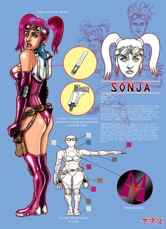 Sonja reference sheet